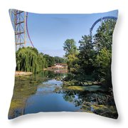 Cedar Point Ohio Throw Pillow