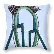 Cedar Point Roller Coaster Throw Pillow