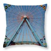 Cedar Point Sunday Throw Pillow