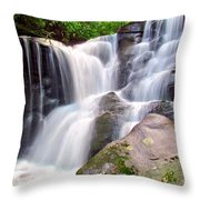 Cedar Rock Creek Falls Throw Pillow