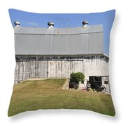 Cedar View Farm Barn Throw Pillow