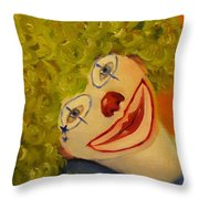 Cee-cee, Child Clown  Throw Pillow