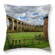 Cefn Viaduct Throw Pillow by Adrian Evans