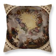 Ceiling Fresco - Cupola Capitol Washington Dc Throw Pillow