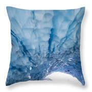 Jagged Ceiling Of Paradise Ice Cave Throw Pillow