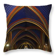 Ceiling Of The Sainte-chapelle  Paris Throw Pillow