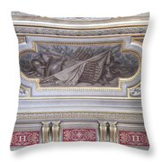 Ceiling Study Chateau De Chantilly Throw Pillow