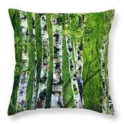 Celadon Spring Throw Pillow