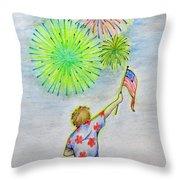 Celebrate America Throw Pillow