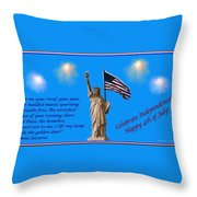 Celebrate Independence Throw Pillow