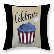 Celebrate The 4th Of July Throw Pillow