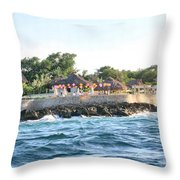 Celebrate The Waves Throw Pillow