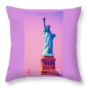 Celebrating Lady Liberty # 3 Throw Pillow