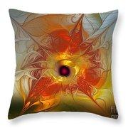 Celebration For A Rising Star-abstract Fractal Art Throw Pillow