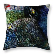 Celebration Of The Peacock #2 Throw Pillow