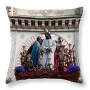 Celebrations On Palm Sunday In Cordoba Throw Pillow