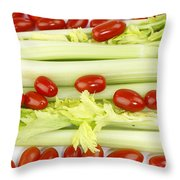 Celery And Tomatoes Throw Pillow