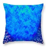 Celestial Blue Heart Throw Pillow