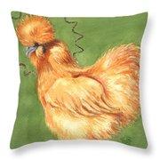 Celestial Chicken Sweet Potato Throw Pillow
