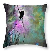 Celestial Dream Of Crow Throw Pillow
