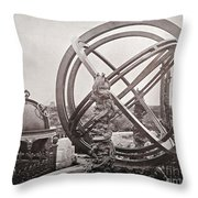 Celestial Globe And Sphere Beijing Throw Pillow