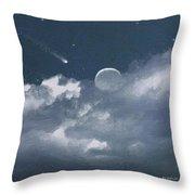 Celestial Night Throw Pillow