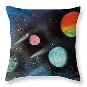 Celestial Planets Throw Pillow