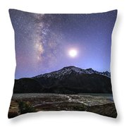 Celestial Sky With Milky Way Galaxy Throw Pillow