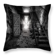 Cell Block - Historic Ruins - Penitentiary - Gary Heller Throw Pillow