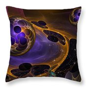 Cell Forms 2 Throw Pillow