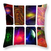 Cell Phone Covers Throw Pillow by Elizabeth S Zulauf