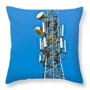 Cell Tower And Radio Antennae Throw Pillow