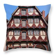 Celle Old Houses Throw Pillow