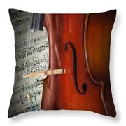 Cello Bridge And Beethoven Throw Pillow