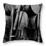 Cellos 6 Black And White Throw Pillow