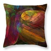 Cellular Abstract.1. Throw Pillow