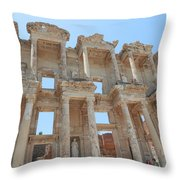Celsus Library In Ephesus Throw Pillow