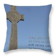 Celtic Blessing 1 Throw Pillow