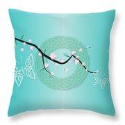 Celtic Blossom Throw Pillow