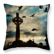 Celtic Blue Throw Pillow