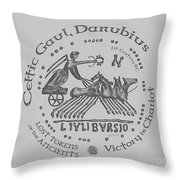 Celtic Chariot Coin Throw Pillow