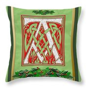 Celtic Christmas A Initial Throw Pillow