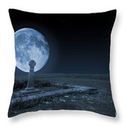 Celtic Cross And Moon Throw Pillow