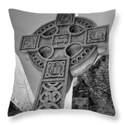 Celtic Cross At Trinity Throw Pillow