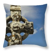 Celtic Cross, Cong Abbey, Ireland Throw Pillow