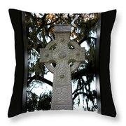 Celtic Cross In Savannah Throw Pillow