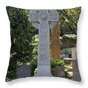 Celtic Cross Of Charleston  Throw Pillow