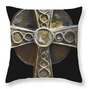 Celtic Cross Sepia Throw Pillow