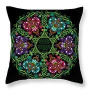 Celtic Fairy Mandala Throw Pillow