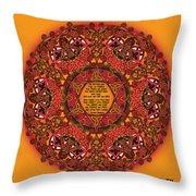 Celtic Fall Fairy Mandala Throw Pillow